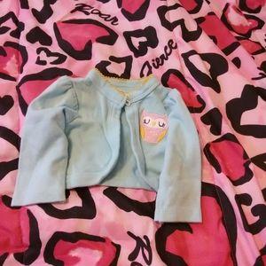 Bon bebe little owl cardigan